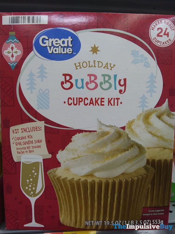 Great Value Holiday Bubbly Cupcake Kit