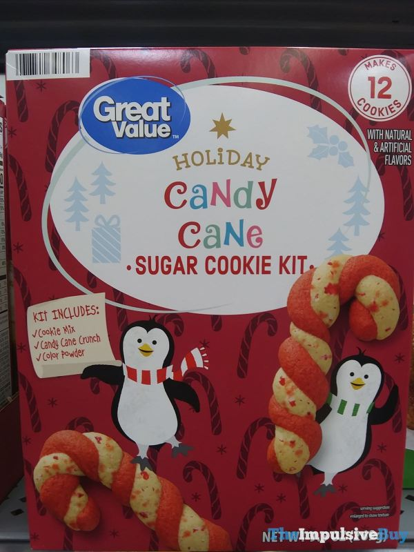 Great Value Holiday Candy Cane Sugar Cookie Kit