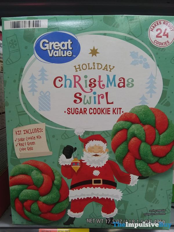 Great Value Holiday Christmas Swirl Sugar Cookie Kit