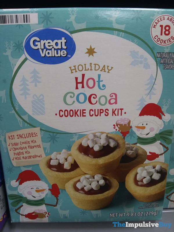 Great Value Holiday Hot Cocoa Cookie Cups Kit