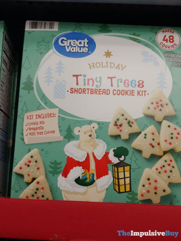 Great Value Holiday Tiny Trees Shortbread Cookie Kit