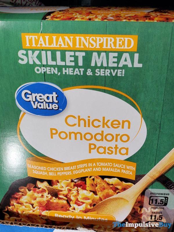 Great Value Italian Inspired Skillet Meal Chicken Pomodoro Pasta