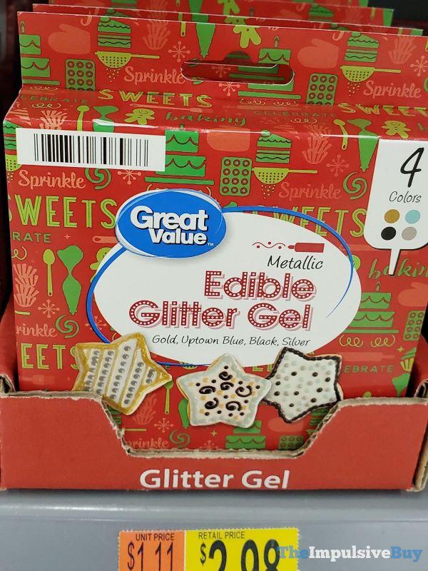 Great Value Metallic Edible Glitter Gel