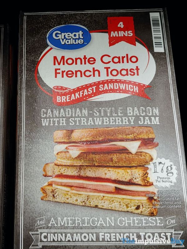 Great Value Monte Carlo French Toast Breakfast Sandwich