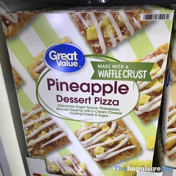 Great Value Pineapple Dessert Pizza Made with a Waffle Crust