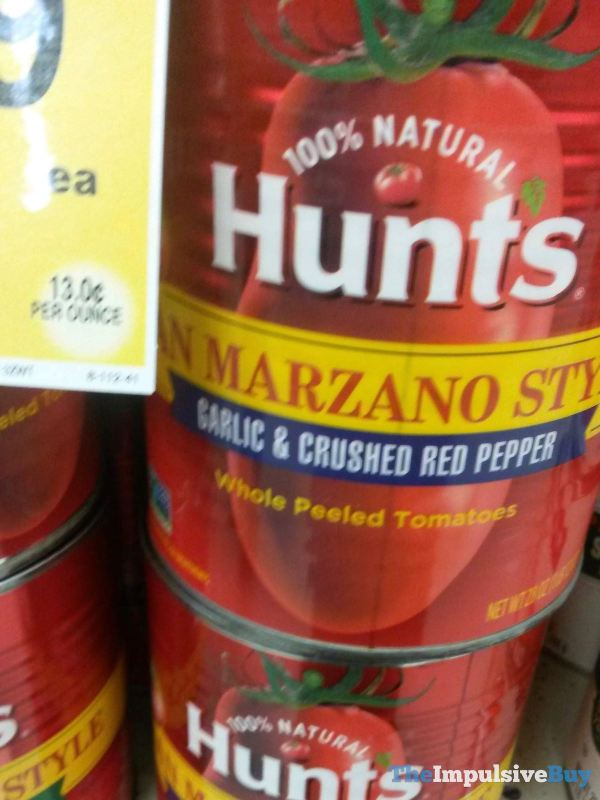 Hunts San Marzano Style Garlic  Crushed Red Pepper Tomatoes