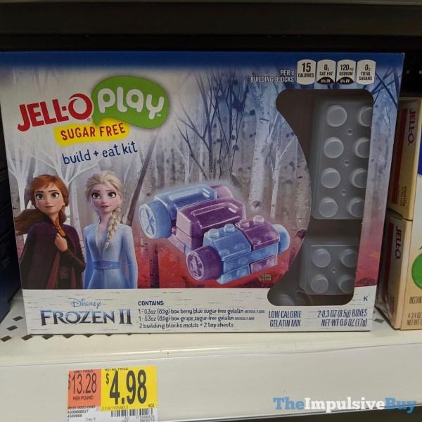 Jell O Play Disney Frozen II Sugar Free Build  Eat Kit