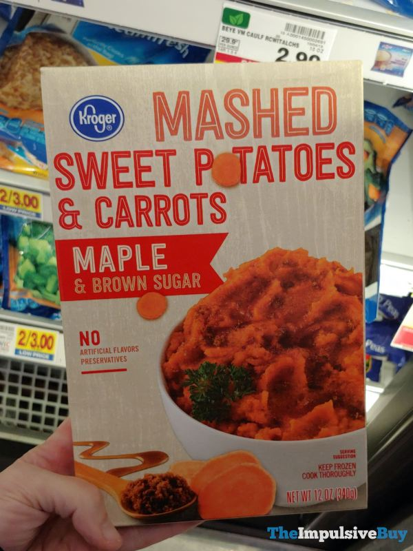 Kroger Maple  Brown Sugar Mashed Sweet Potatoes  Carrots
