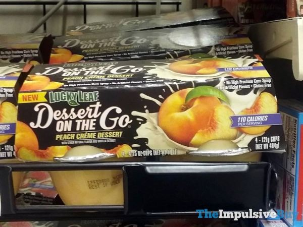 Lucky Leaf Dessert on the Go Peach Creme Dessert