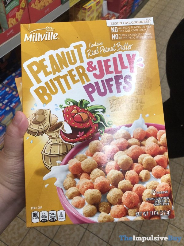 Millville Peanut Butter  Jelly Puffs