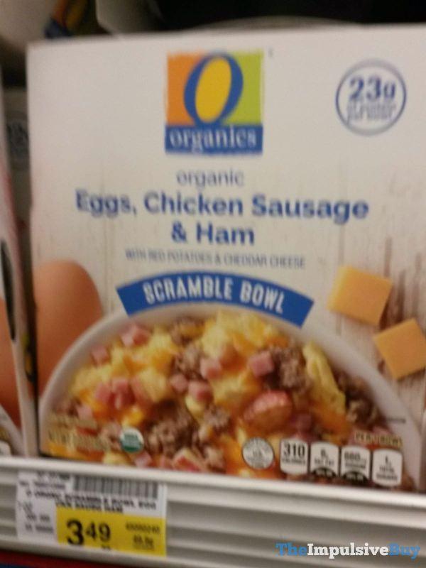 Safeway Organics Organic Eggs Chicken Sausage  Ham Scramble Bowl
