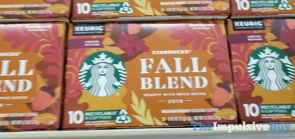 Starbucks Limited Edition Fall Blend 2019 K Cups