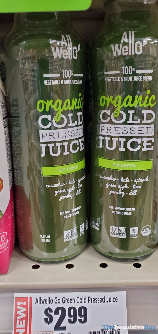 All Wello Go Green Organic Cold Pressed Juice