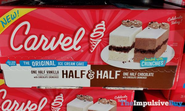 Carvel Half  Half Ice Cream Cake
