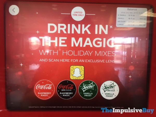 Coke Freestyle 2019 Holiday Flavors