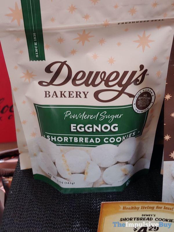 Dewey s Bakery Powdered Sugar Eggnog Shortbread Cookies