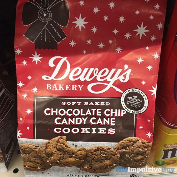 Dewey s Bakery Soft Baked Chocolate Chip Candy Cane Cookies