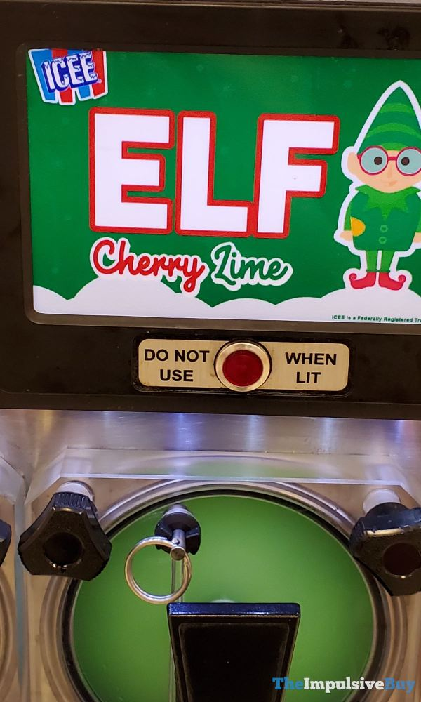 Elf Cherry Lime ICEE Closeup
