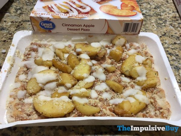 Great Value Cinnamon Apple Dessert Pizza Raw