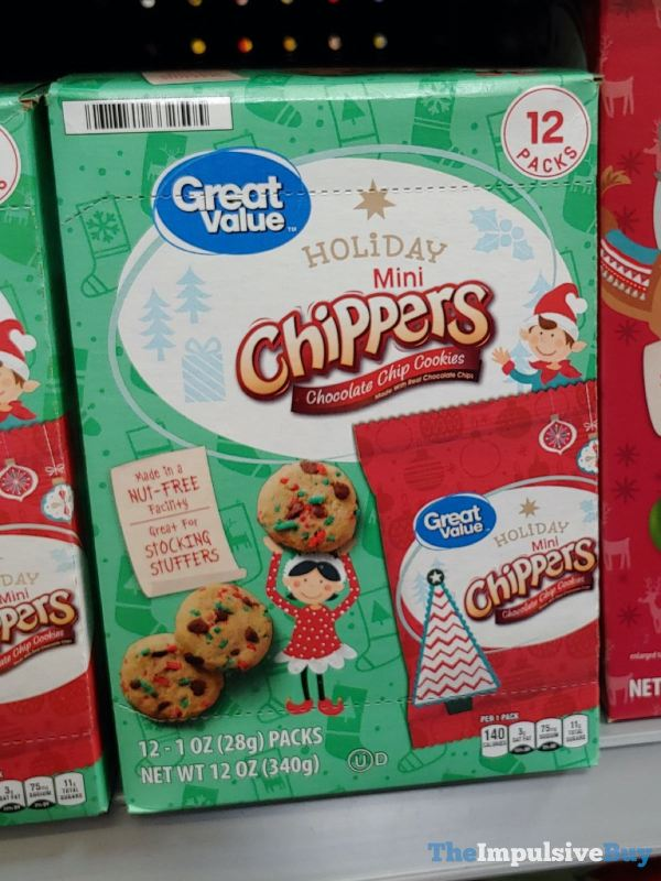 Great Value Holiday Mini Chippers Chocolate Chip Cookies