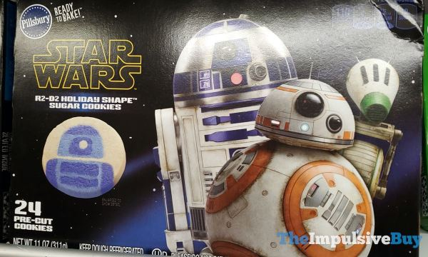 Pillsbury Star Wars R2 D2 Holiday Shape Sugar Cookies 2019 Package Design