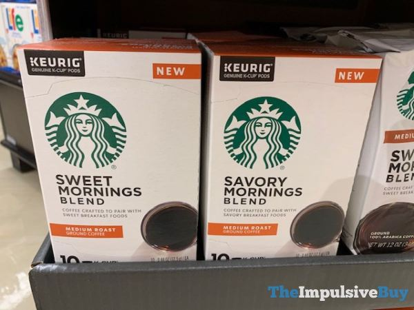 Starbucks Sweet Mornings and Savory Mornings Blends K Cups