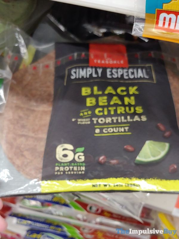 Teasdale Simply Especial Black Bean and Citrus Tortillas