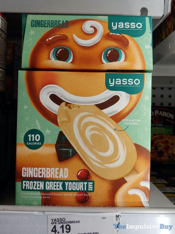 Yasso Gingerbread Frozen Greek Yogurt Bars