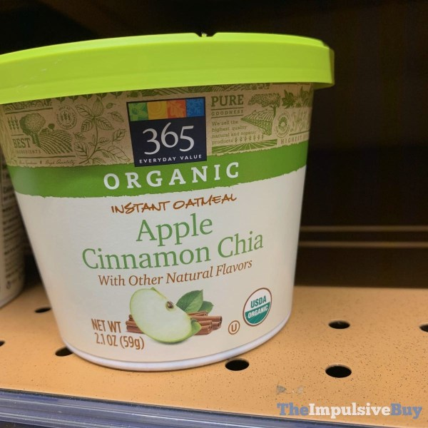 365 Everyday Value Organic Apple Cinnamon Chia Instant Oatmeal