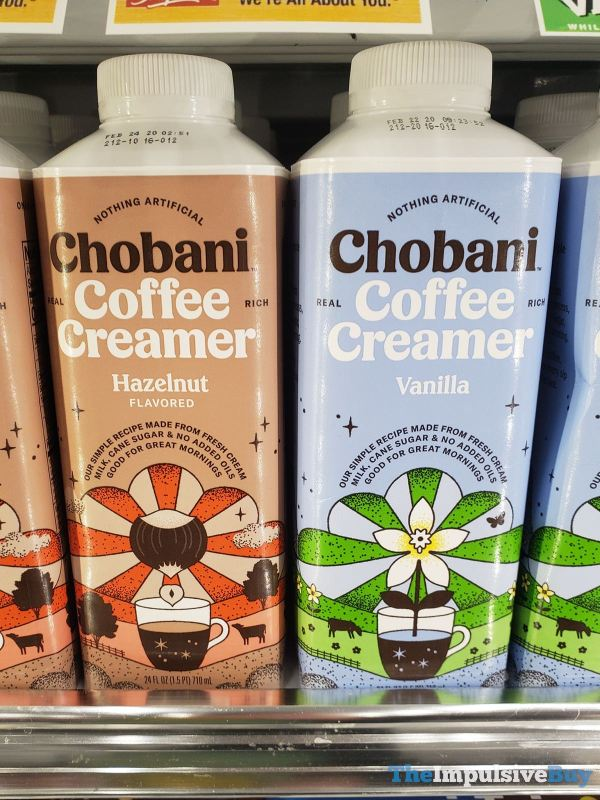 Chobani Coffee Creamer  Hazelnut and Vanilla