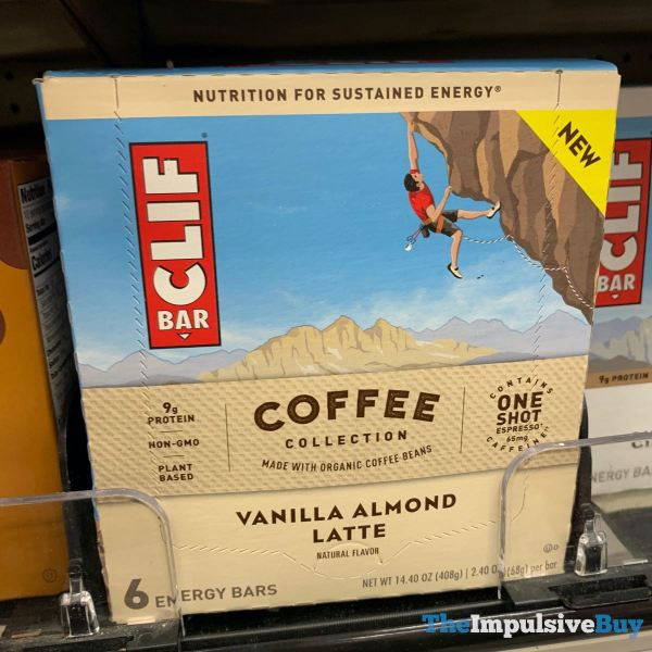 Clif Bar Coffee Collection Vanilla Almond Latte