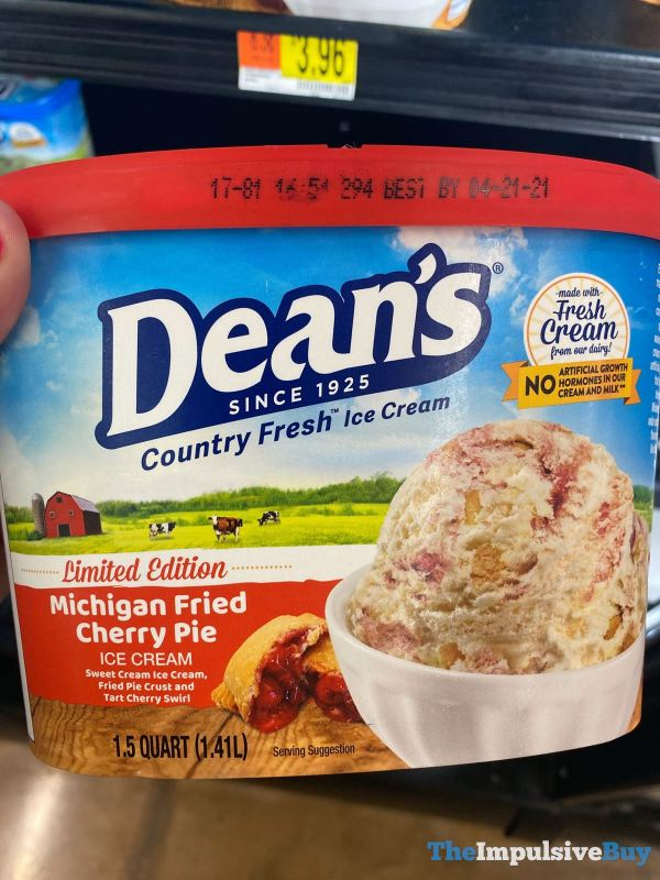 Dean s Limited Edition Michigan Fried Cherry Pie Ice Cream