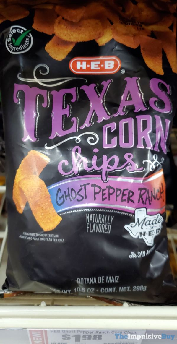 H E B Ghost Pepper Ranch Texas Corn Chips