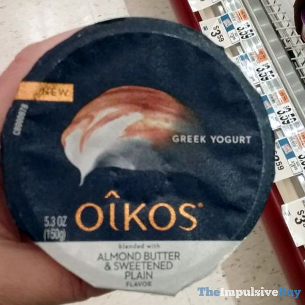 Oikos Blended with Almond Butter  Sweetened Plain Greek Yogurt