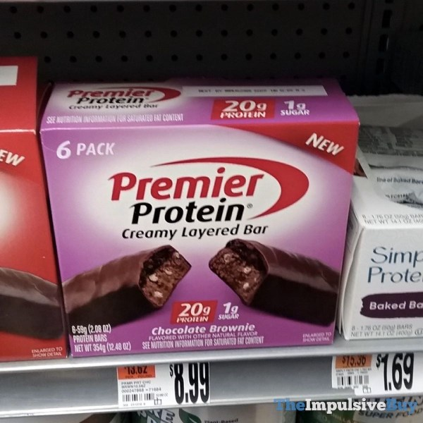 Premier Protein Chocolate Brownie Creamy Layered Bar