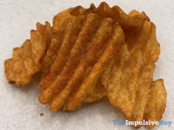 Ruffles Double Crunch Sweet  Smoky BBQ Potato Chips Closeup