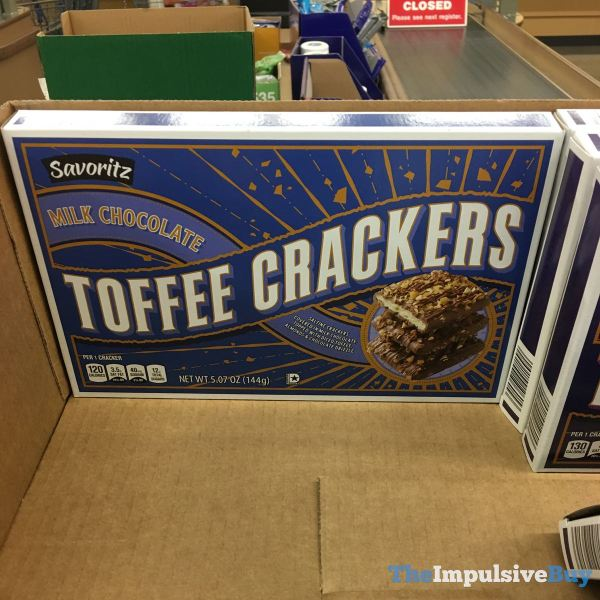 Savoritz Milk Chocolate Toffee Crackers