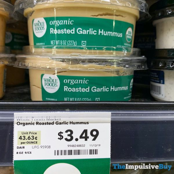 Whole Foods Organic Roasted Garlic Hummus