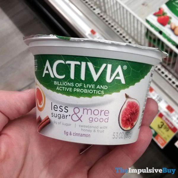 Activia Less Sugar  More Good Fig  Cinnamon Probiotic Yogurt