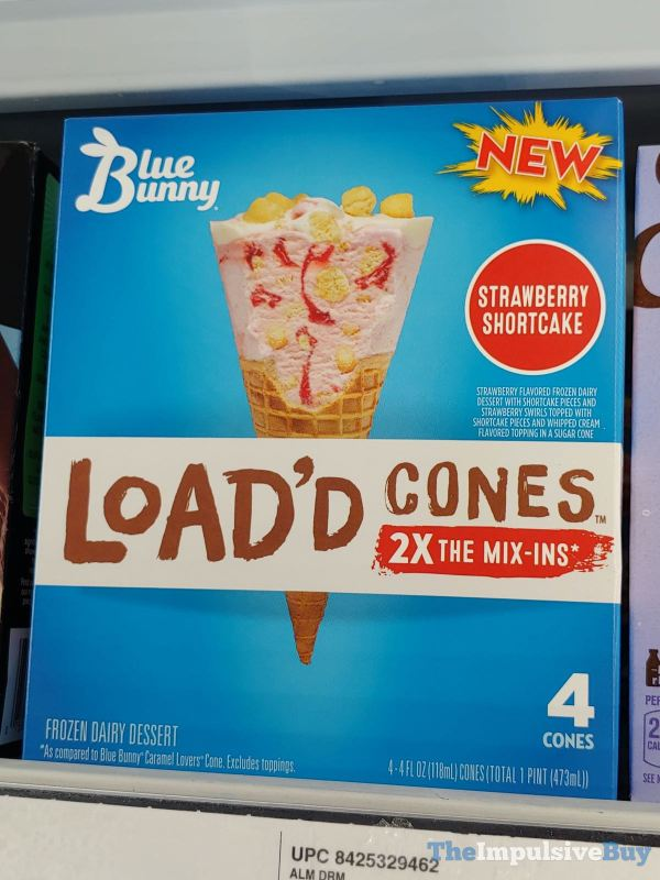Blue Bunny Load d Cones Strawberry Shortcake