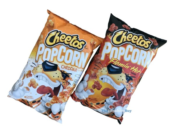 Cheetos Popcorn  Cheddar and Flamin Hot