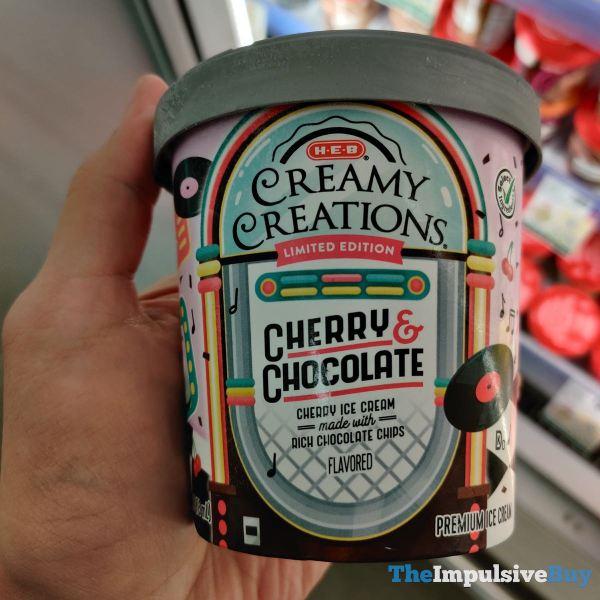 H E B Creamy Creations Limited Edition Cherry  Chocolate Ice Cream