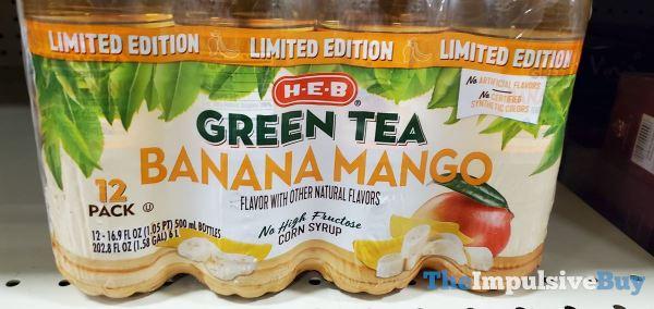 H E B Limited Edition Banana Mango Green Tea