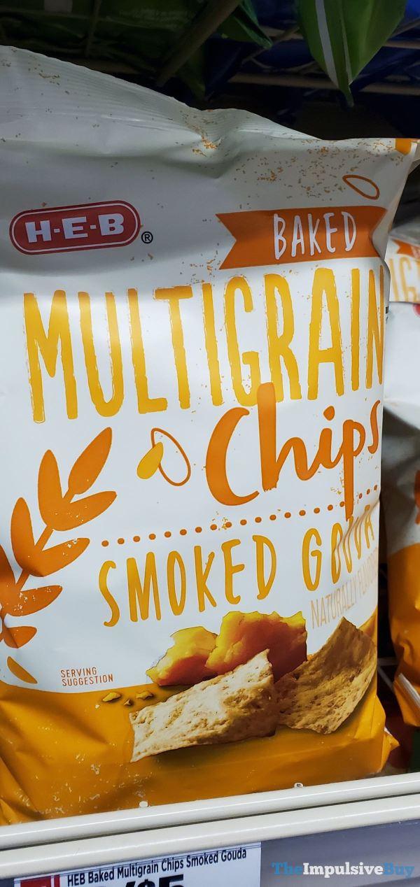 H E B Smoked Gouda Baked Multigrain Chips