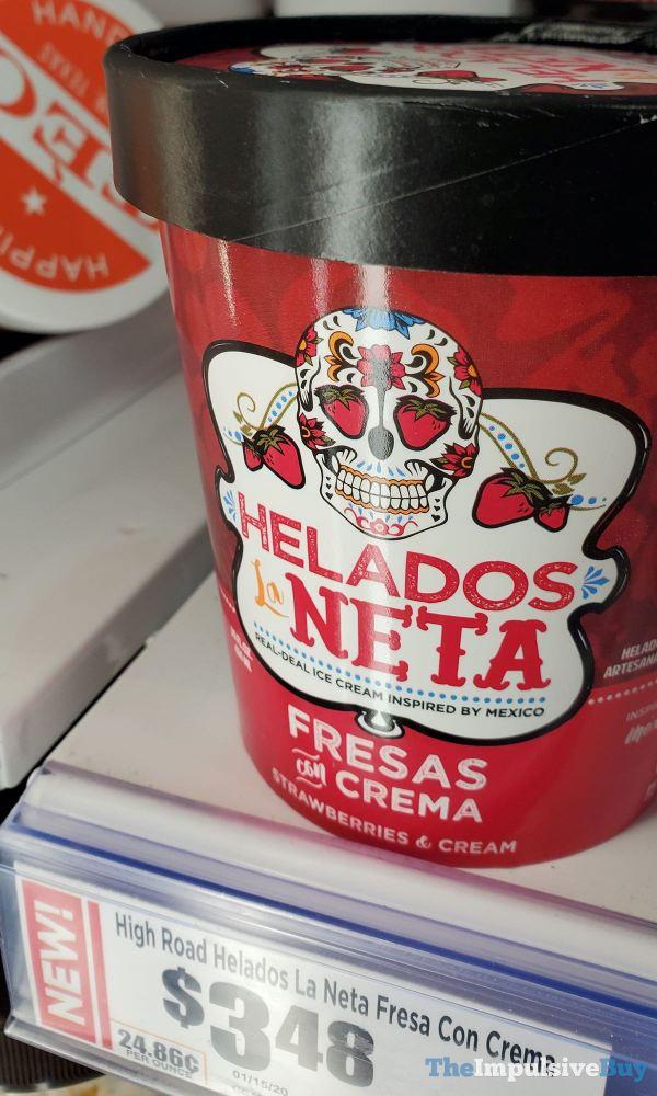 Helados La Neta Fresas con Crema Ice Cream