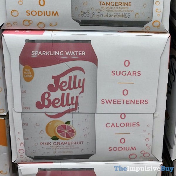 Jelly Belly Pink Grapefruit Sparkling Water