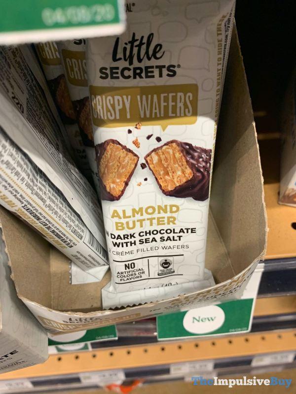 Little Secrets Almond Butter in Dark Chocolate with Sea Salt Crispy Wafers
