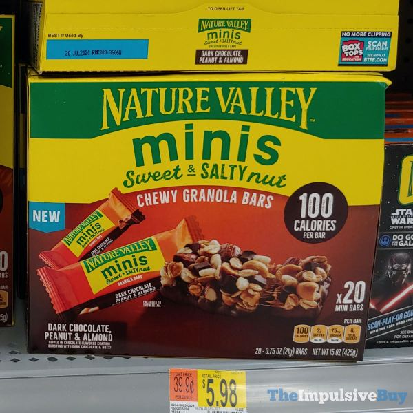 Nature Valley Minis Dark Chocolate Peanut  Almond Sweet  Salty Nut Chewy Granola Bars
