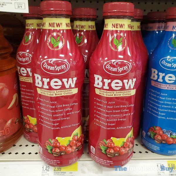 Ocean Spray Brew Cranberry Lemonade with Cold Brew Coffee