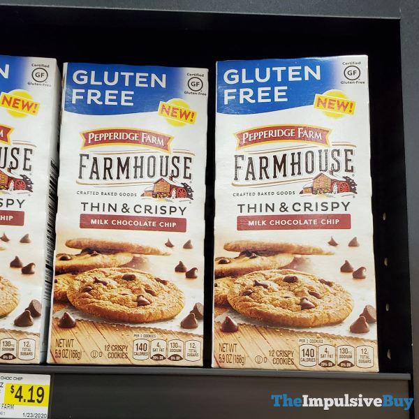 Pepperidge Farm Farmhouse Gluten Free Milk Chocolate Chip Thin  Crispy Cookies